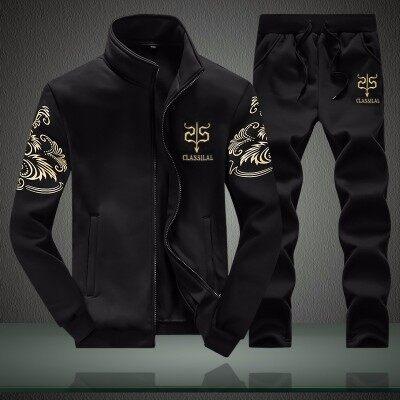 秋季套装男2020新款韩版潮流男士休闲运动套装长袖两件套