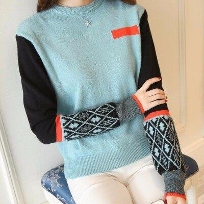 秋冬女装修身长袖毛衣弹力针织上衣