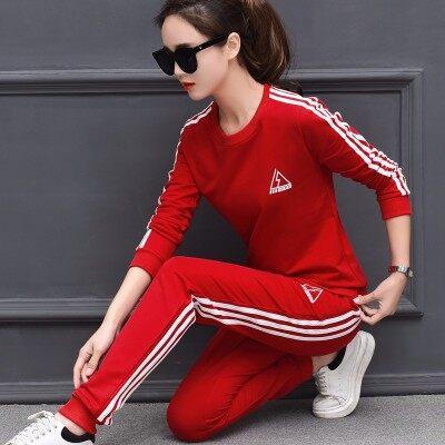 休闲运动套装女春秋宽松显瘦2018新款潮韩版时尚运动服卫衣两